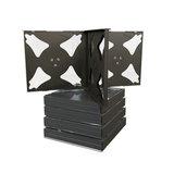 Jewel case voor 4 cd's zwart 5 stuks