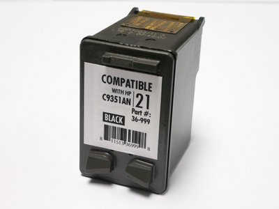 HP 21 Compatible(C9351A) Zwart