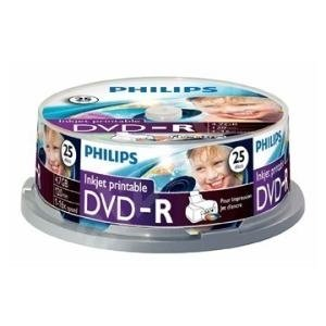 Philips DVD-R 4.7 GB Inkjet Printable 25 stuks