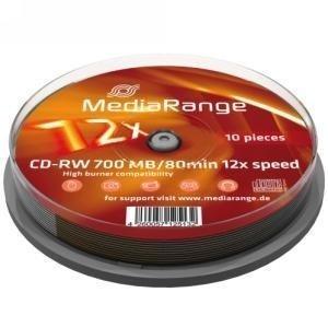 MediaRange CD-RW 700 MB 10 stuks