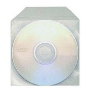 Plastic Sleeves met flap voor 1 cd/dvd 100 stuks