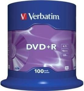 Verbatim DVD+R 4.7 GB DataLife Plus 100 stuks