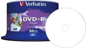 Verbatim DVD+R 4.7 GB DataLife Plus Photo Inkjet Printable 50 stuks