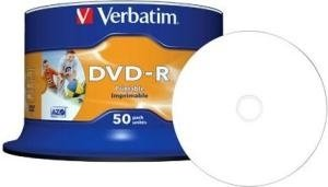 Verbatim DVD-R 4.7 GB DataLife Plus Inkjet Printable 50 stuks