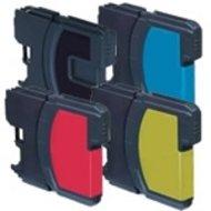 Huismerk Brother DCP-385C compatible inktcartridges LC1100  set 4 stuks