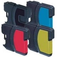 Huismerk Brother DCP-585C compatible inktcartridges LC1100  set 4 stuks