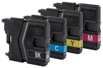 Huismerk Brother DCP-J125 compatible inktcartridges LC985 Set 4 Stuks