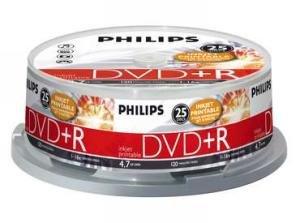 Philips DVD+R 4.7 GB Inkjet Printable 25 stuks