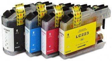 Huismerk Brother DCP-J4120DW compatible inktcartridges LC-223 Set 4 Stuks