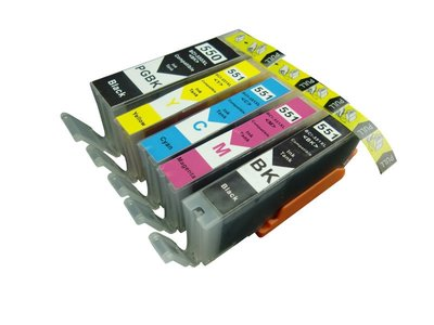 Huismerk Canon pixma MX725 Compatible inkt cartridges CLI-551 / PGI-550 set 5 stuks