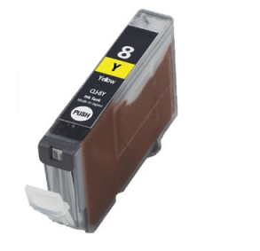 Huismerk Canon pixma IP3300 Compatible inkt cartridges CLI-8 Yellow met chip