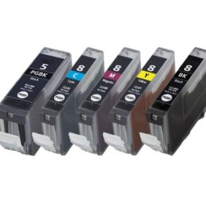 Huismerk Canon pixma ip4200 inkt cartridges CLI-8 / PGI-5 set MET CHIP!
