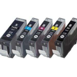 Huismerk Canon pixma ip5300 Compatible inkt cartridges CLI-8 / PGI-5 set MET CHIP!