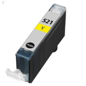Huismerk Canon pixma MP980 Compatible inkt cartridges CLI-521 Yellow met chip