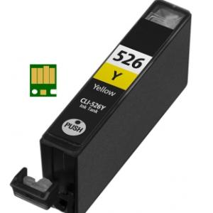 Huismerk Canon pixma IP4950 Compatible inkt cartridges CLI-526 Yellow met chip