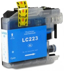 Huismerk Brother MFC-J4620 compatible inktcartridges LC-223 Cyan