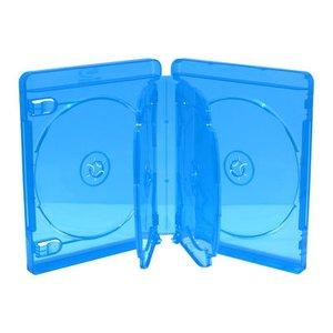 Blu-Ray  doosjes 6 disc transparant blauw 3 stuks 15 mm