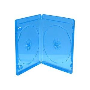 Blu-Ray  dubbel doosjes transparant blauw 5 stuks 7mm