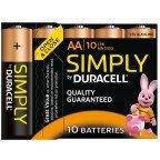 Duracell Simply LR6 AA 10-pak