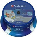 Verbatim BD-R full-printable 25 GB 6x speed in cakebox 25 stuks