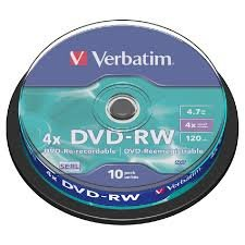 Verbatim DVD-RW 4.7 GB Matt Silver 10 stuks