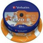 Verbatim DVD-R 4.7 GB Inkjet Printable 25 stuks