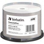Verbatim DVD-R 4.7 GB Wide Silver Inkjet Printable No ID 50 stuks