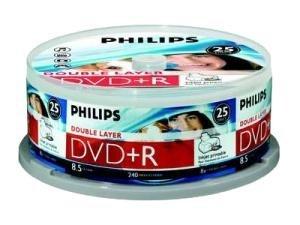Philips DVD+R DL 8.5 GB Inkjet Printable 25 stuks