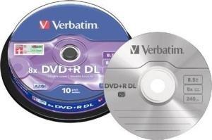 Verbatim DVD+R DL 8.5 GB Scratch Resistant 10 stuks