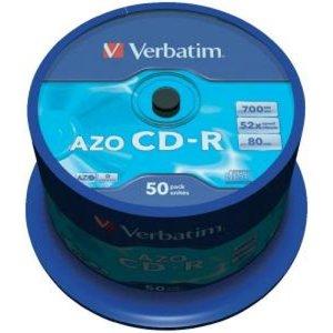 Verbatim CD-R 700 MB AZO Crystal 50 stuks