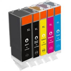 Huismerk Canon pixma TS8053 inkt cartridges CLI-571 / PGI-570 set 5 stuks