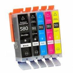 Huismerk Canon pixma TR7550 inktcartridges CLI-581 XL / PGI-580 XL set 5 STUKS