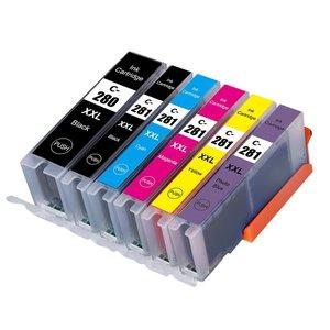 Huismerk Canon pixma TS9551 inktcartridges CLI-581 XL / PGI-580 XL set 6 STUKS