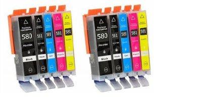 Canon pixma TS8250 inktcartridges CLI-581 XL / PGI-580 XL set 10 STUKS