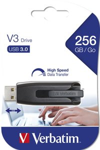 Verbatim USB-Stick V3 Store 'n' Go USB3.0 256 GB grijs