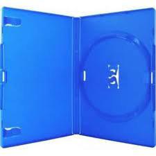 Amaray Dvd Box 1  14 mm 5 Stuks Blauw