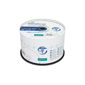 MediaRange Medical Line DVD-R 4.7 GB Inkjet Printable 50 stuks