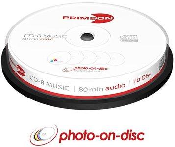 Primeon Music CD-R 80 minuten Inkjet Printable 10 stuks