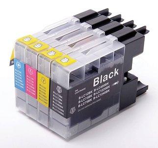 Huismerk Brother MFC-J430W compatible inktcartridges LC1240 set 4 stuks