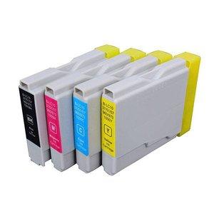 Huismerk Brother DCP-770 compatible inktcartridges LC1000 Set 4 Stuks