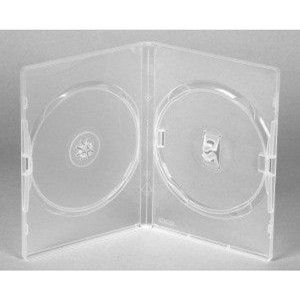 Amaray Dvd Box 2  14 mm Transparant 5 Stuks