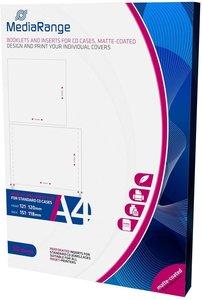 MediaRange CD jewelcase booklet + inlay wit 50 stuks