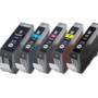 Canon-pixma-ip4500-Compatible-inkt-cartridges-CLI-8-PGI-5-set-MET-CHIP!