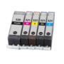 Canon-pixma-IP4600-Compatible-inkt-cartridges-CLI-521-PGI-520-set-MET-CHIP!